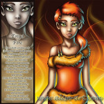 fire enya destructive creative heat light ash girl redhead yellow eyes sensuality power drive physical spiritual element