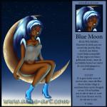Blue Moon blauwe hemel gekleurde maan blauw meisje haar schoenen lucht sterren vliegen droom