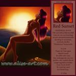 passioneel rood red sunset zon flashdance passie vuur ondergaande zon