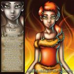 enya vuur creatief destructief magie oranje haar meisje gele ogen passie hitte licht rook as verandering creativiteit motivatie