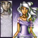 Aria lucht ijlheid beweging meisje paars wit haar gebruinde huid magie expressie beweging frisheid intelligentie communicatie