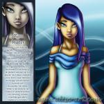 Water ran meisje blauw helend reinigend liefdevol zwemmen regenstormen dauw magie energie liefde onderbewustzijn zuivering