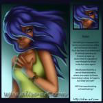 raka reflex surprise hear hurt time freeze blue hair magie heartbreaking breathtaking