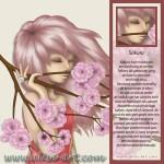 sakura kersenbloesems roze gesloten ogen meisje wind