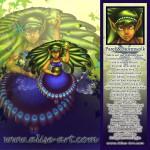 parel stormwolk jade verwachting groen haar elfen magie vleugels vuurvlieg