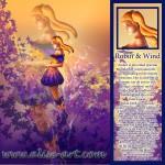 Robin wind elfen vleugels oranje haar magie amber