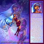Zilvertraan safier Herfst Snorharen elfen blauw haar vleugels bloemen bloesems